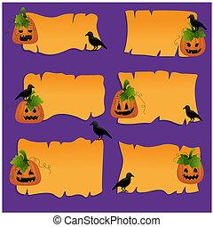 Halloween scrapbook design elements