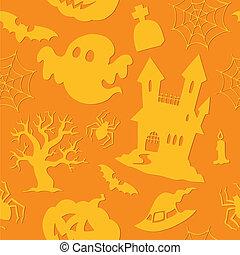 Halloween seamless background 2 - vector illustration.