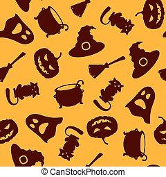 halloween, seamless, fond