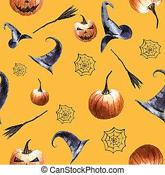 Halloween seamless pattern 1