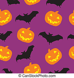 Halloween seamless pattern background vector illustration