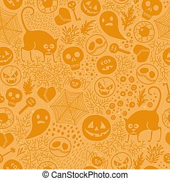 Halloween seamless pattern. Happy Halloween! Vector...