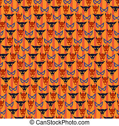 Halloween seamless pattern with mask.