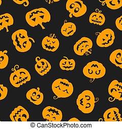 Halloween seamless pattern with pumpkin. Vector illustration.