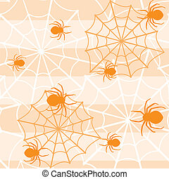 Halloween seamless pattern with spiders - Halloween seamless...
