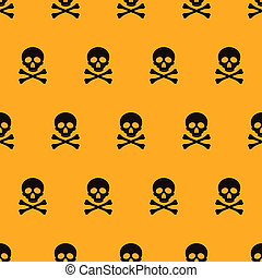 halloween seamless patterns. Cartoon skulls. Halloween...