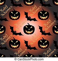Halloween seamless vector pattern background wallpaper