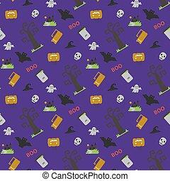 Halloween seamless vector pattern