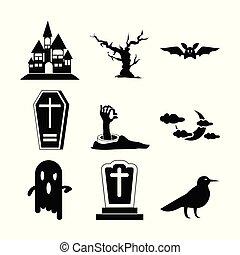 Halloween Set Icon Vector Illustration