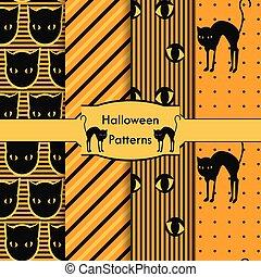 Halloween set of patterns, Hallowe