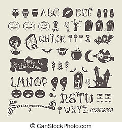 Halloween set - Vector halloween icons