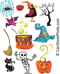 halloween set - vector illustration of a halloween set