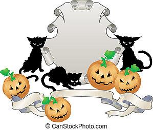 halloween shield illustration