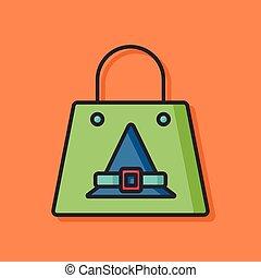 halloween shopping bag icon