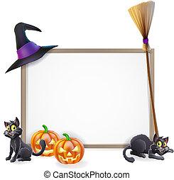 Halloween sign