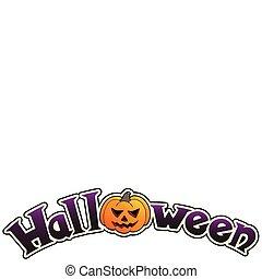 Halloween sign with big pumpkin