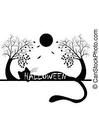 halloween, silhouette