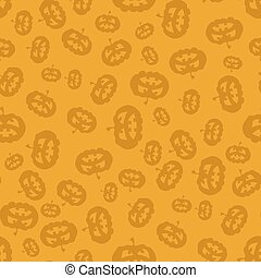 Cartoon Pumpkin Seamless Pattern