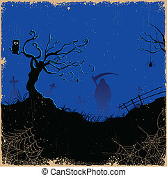 halloween, sinistre, nuit