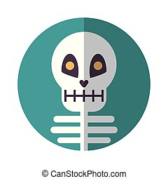 halloween skeleton bones character icon