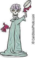 halloween skeleton cartoon illustration