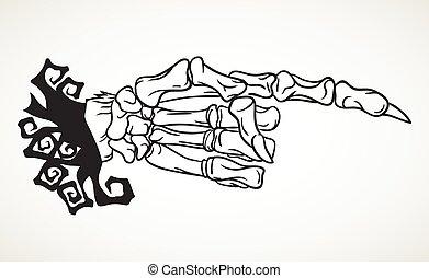 Halloween skeleton hand design element