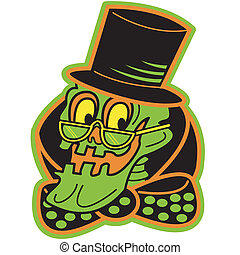 Halloween Skeleton Sign Clip Art