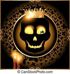 Halloween skull background or card