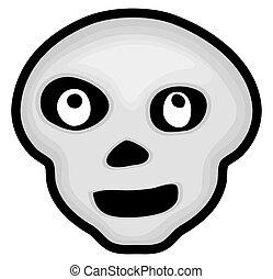 Halloween Skull Face Drawing