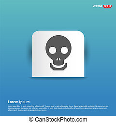Halloween skull icon - Blue Sticker button