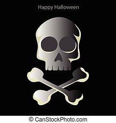 Halloween skull on a black background