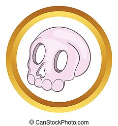 Halloween skull vector icon