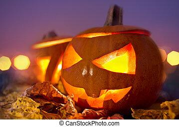 halloween, soir