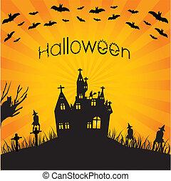 halloween, spécial, fond