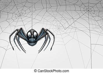 Halloween Spider Design Element