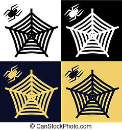 Halloween Spider & Web Vector Set