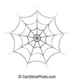 halloween spiderweb vector symbol icon design. Beautiful ...