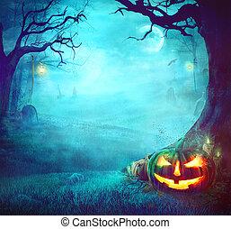 Halloween Spooky Background