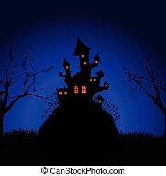 halloween spooky castle background 2909