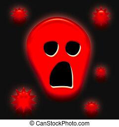 Halloween spooky face - Halloween sign, spooky 3d face on ...