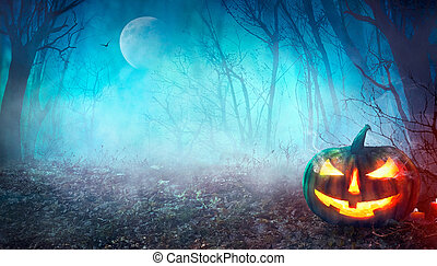 halloween, spooky, forêt