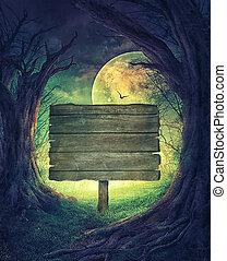 Halloween Spooky Forest - Halloween design. Festive...