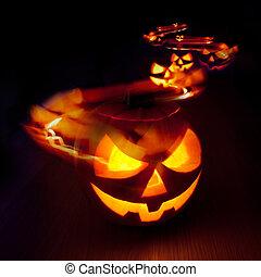 halloween, spuren