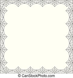 Halloween square spider web border on white background isolated