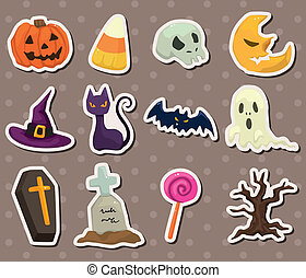 halloween, stickers