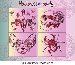 Halloween stickers - Creative idea