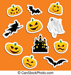 Halloween Stickers - Large collection of Halloween themed...