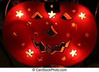 halloween - backlighted pumpkin for halloween