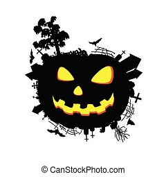 halloween sweet and funny vector illustration