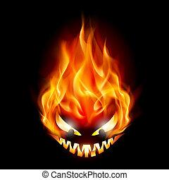 Halloween symbol - Evil burning Halloween symbol....